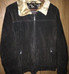Новая натуральная замшевая женская куртка, 52-54