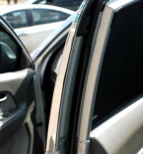 Каркасные шторки на передние двери автомобиля