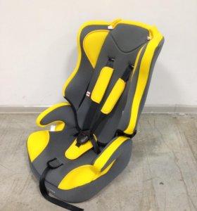 Автокресло (3 в 1) 9-36 кг (1-12 лет) серо жёлтое