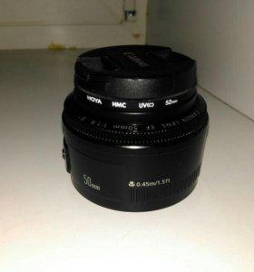 Canon lens 50mm 1:1.8
