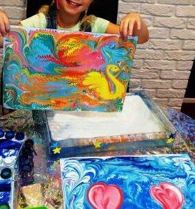 Мастер-класс рисования на воде