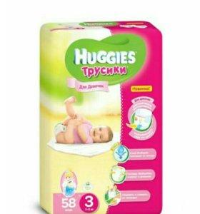 Трусики-подгузники Huggies 3 для девочек 7-11кг