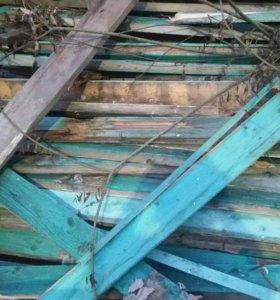 Доски на дрова от забора
