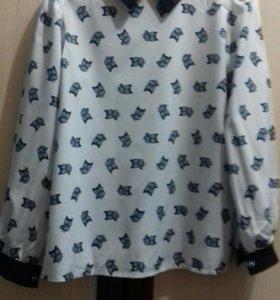 Блзка-рубашка школьная с совами