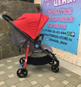 Коляска прогулочная Happy Baby CROSSBY Red