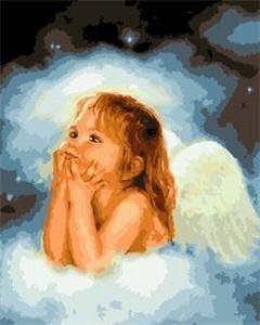 Ангелочек в облаках - набор для рисования