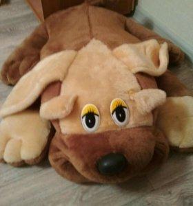 Детская игрушка. Мягкая собака. Большая.