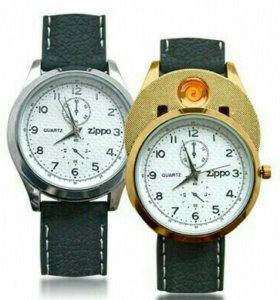 Спешите-Супер подарок Часы зажигалка Zippo