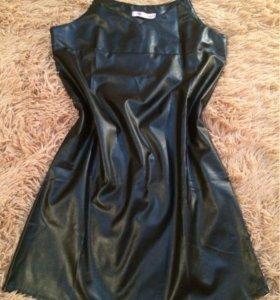 Кожанное новое платье
