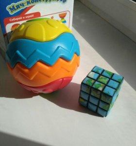 Детские игры, мяч конструктор, пазл