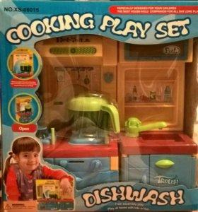 Набор детская кухня со звуком и подсветкой