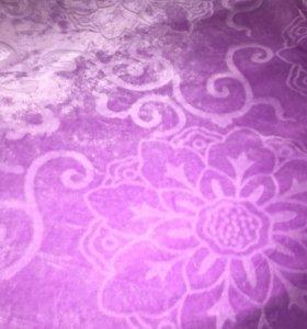 Плед фиолетовый плюшевый