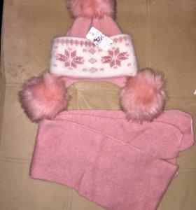 Новый комплект: шапка+шарф