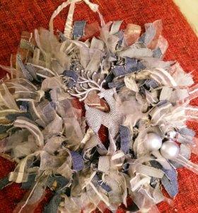 декоративные венки для оформления интерьера