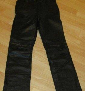 джинсы женские кожаные