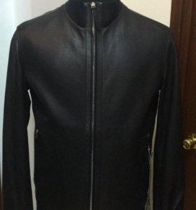 Куртка Ermenegildo Zegna.Чёрная кожа