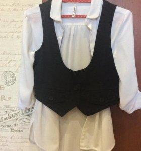 Желет и блузка