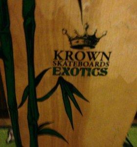 Скейт Лонгборд  KROWN skateboards exotics