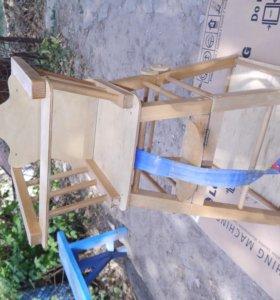 Детский стул(стол) -трансформер для кормления