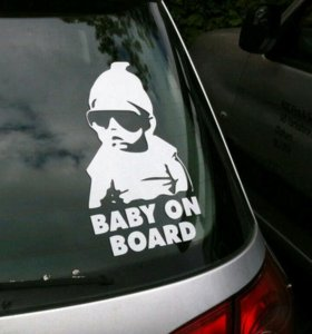 наклейка ребенок в машине