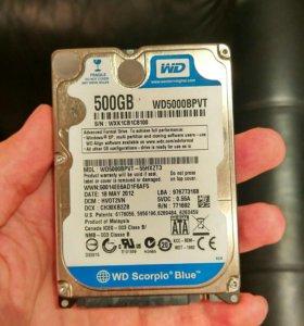 Продам жёсткие диски WD на 500 и 80 гб