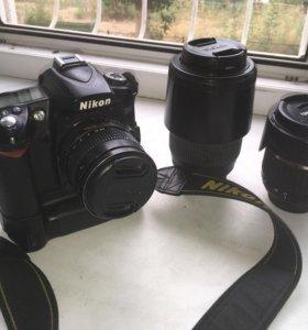Фотоаппарат Nikon D90 с набором объективов