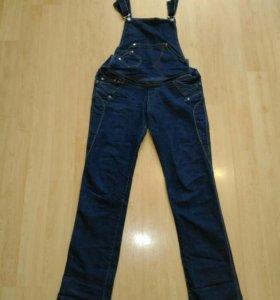 Комбинезон джинсовый для беременных р.48-50