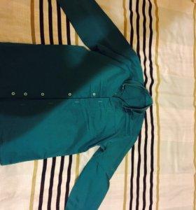 Рубашка морского цвета
