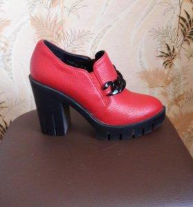 Туфли весна-осень натуральная кожа