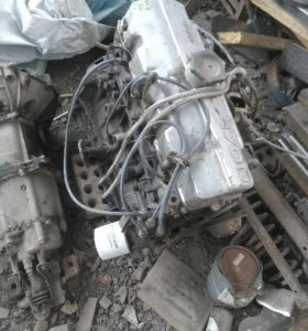 Двигатель и коробка на москвич 2141