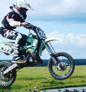 Кроссовый мотоцикл кавасаки 65 куб