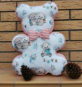 Мишка подушка игрушка