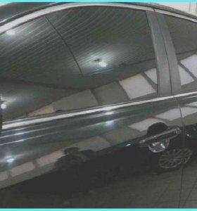 Автошторки для передних дверей автомобиля.