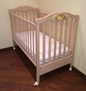 Кроватка детская Erbesi с матрасом Ormatek kids