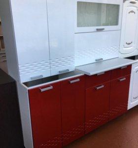 Кухня Глория 1,2 белый /красный