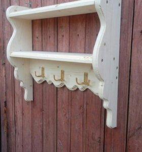 Полка для кухни в деревенском стиле