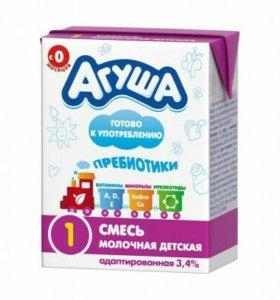 """Смесь """"Агуша"""" молочная #1"""