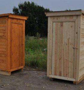 Туалет 1*1 деревянный