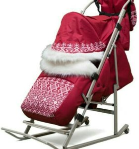 Санки-коляска на больших колесиках
