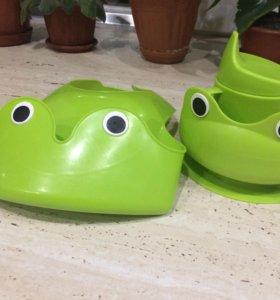 Детская посуда в наборе