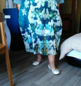 Платье из органзы новое.