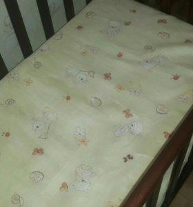 Кроватка +матрац ортопедический