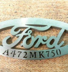 Изготовление брелков с логотипом и номером авто