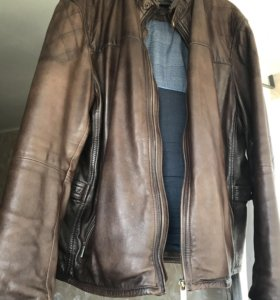 Кожаная куртка мужская Massimo dutti