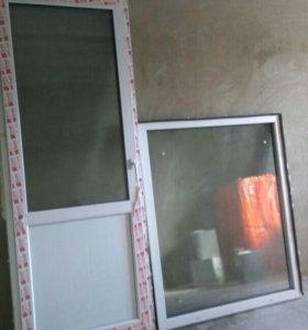 Дверь с окном