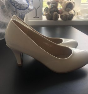 Белые туфли свадьба 36 размер