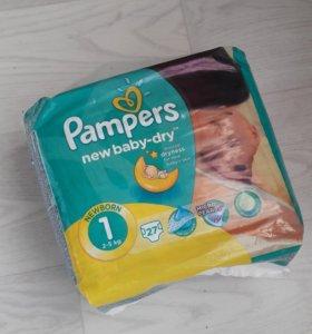 Подгузники Pampers 1(2-5)кг, 2 (3-6)кг