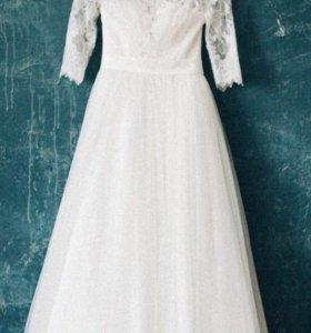 Сказочное свадебное платье))