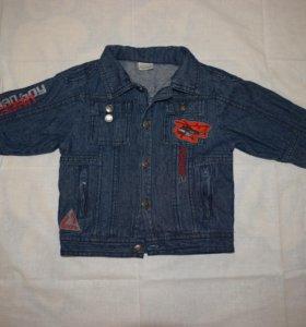 джинсовая курточка на мальчика на 1,5-2 года