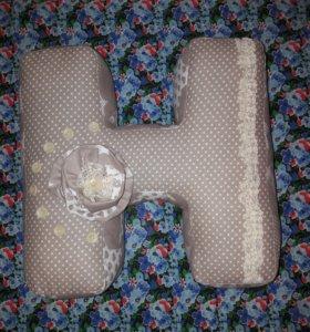Буквы-подушки, бортики